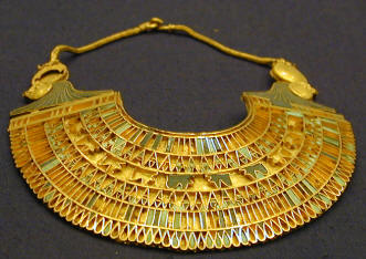 Gold necklace Egyptian museum in Cairo