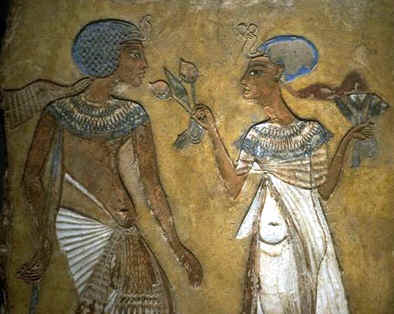 Nefertiti and Akhenaton