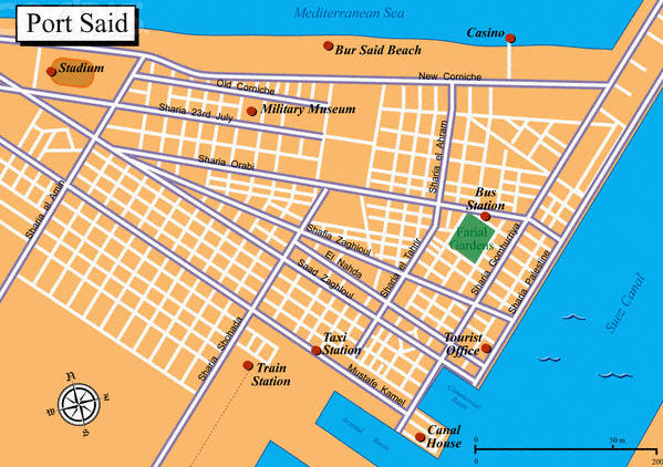 Portsaid map