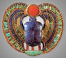 Winged scarab pendant